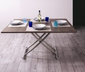 La table relevable qui se transforme en lit modulance - Table basse qui se transforme en table haute ...