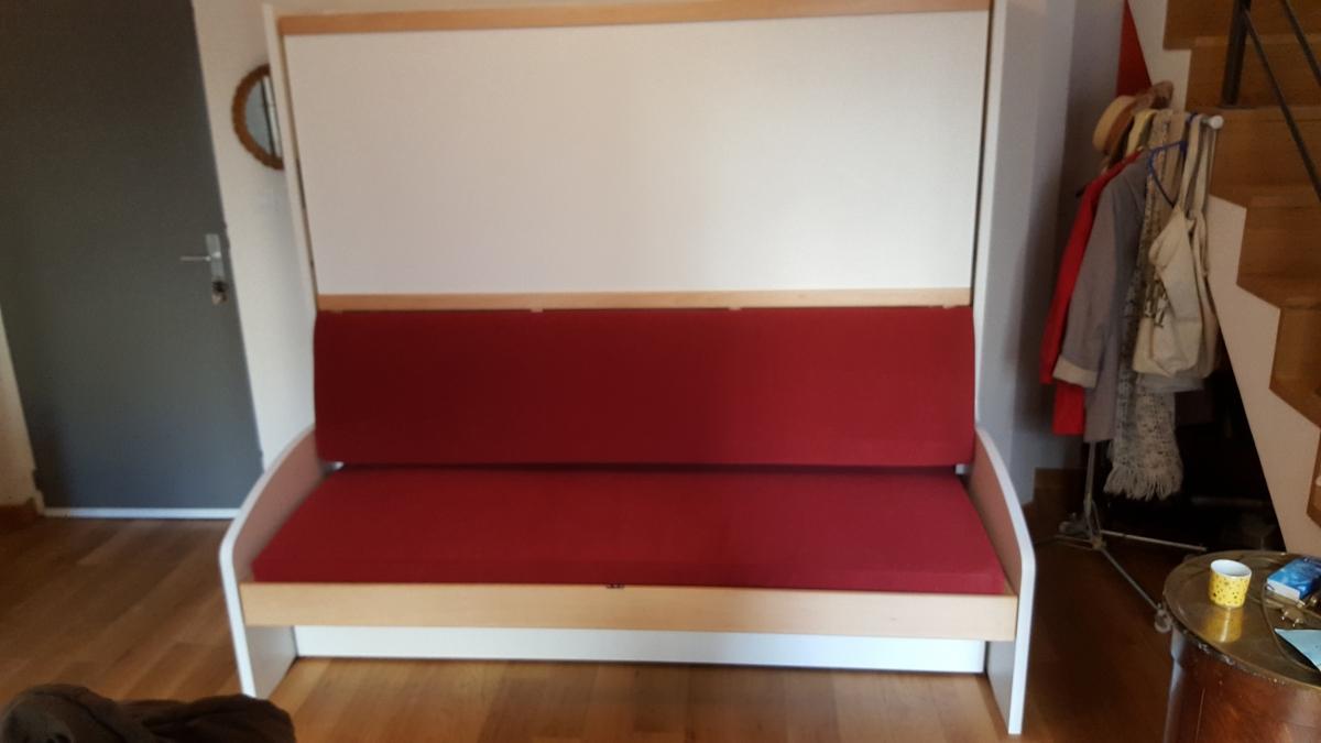 Lit escamotable canapé BL4