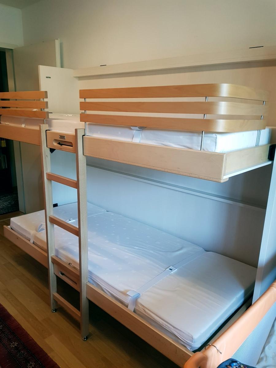 lit superpos escamotable mlju en maison modulance. Black Bedroom Furniture Sets. Home Design Ideas