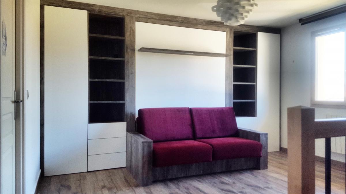 lit escamotable symphonie am nag de mur mur modulance. Black Bedroom Furniture Sets. Home Design Ideas