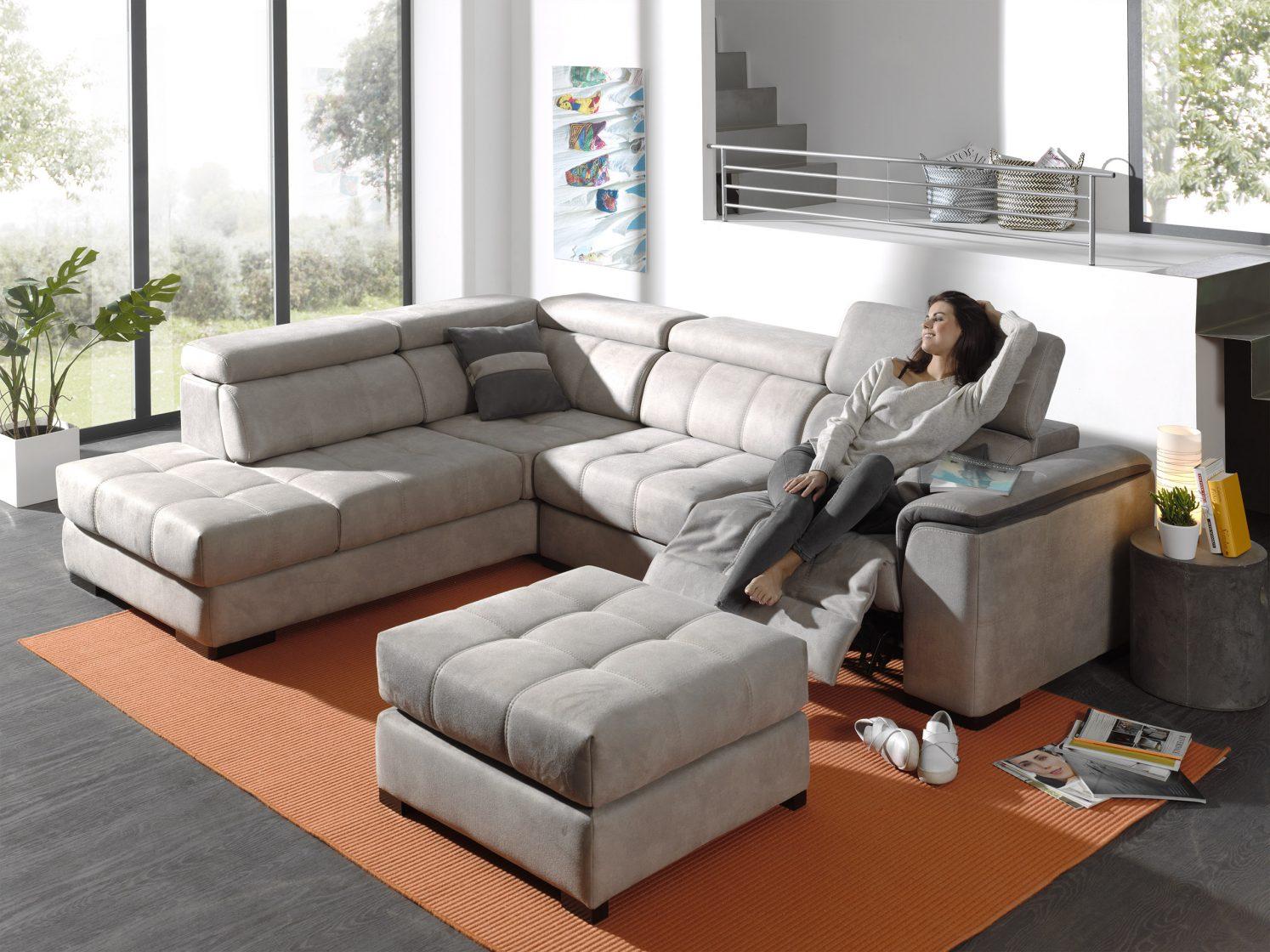 Canapé, canapé d'angle, canapé relax, pouf Riva